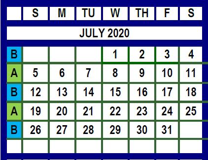 july 2020 trash calendar