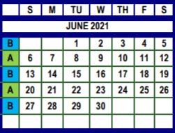June trash schedule graphic