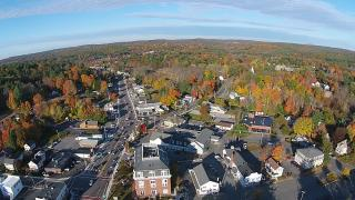 Autumn aerial view of Northborough Town Center